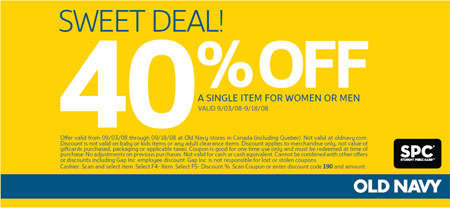 Old Navy Canada Coupons- Canadian Coupons