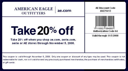 Aeo in store coupons