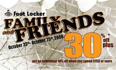 Foot Locker Canada Family & Friends Sale Event
