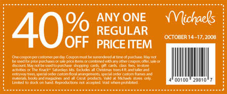 Michaels Coupon Canada