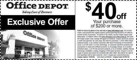 Canadian coupons office depot canada 40 off 200 canadian freebies coupons deals bargains - Office depot discount code ...