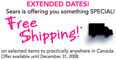 Sears Canada Free Shipping
