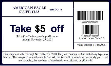 Sertimagvoi: American Eagle Coupons Printable