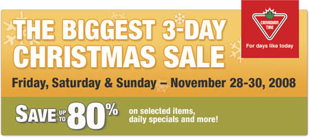 Canadian Tire Christmas Deals