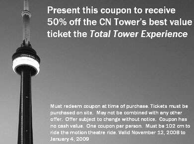 Cn tower coupons