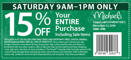 Michaels Canada Holiday Madness Coupons