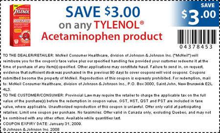 Tylenol Coupon July 2017