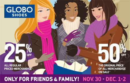 GLOBO Shoes Canada Friends & Family Sale