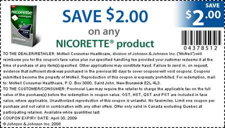 Nicorette Canada Coupons