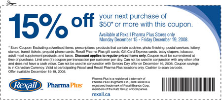 Canadian coupons rexall pharma plus coupon for 15 off for American frame coupon code