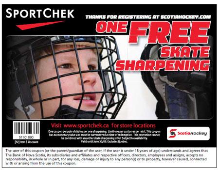 SportChek Canada Free Skate Sharpening