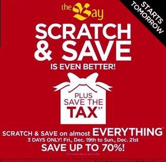 The Bay Scratch & Save Canada