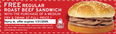 Arby's Canada Coupon