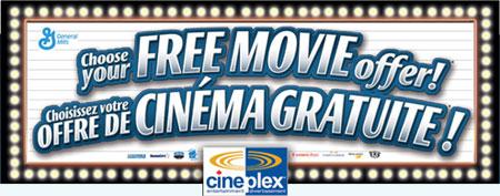General Mills Canada Cereals: Free Cineplex Movie Offer