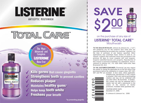 Listerine Canada Coupon