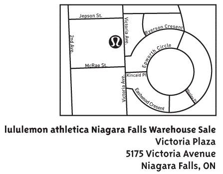Lululemon Canada Warehouse Sale 2009: Niagra Falls
