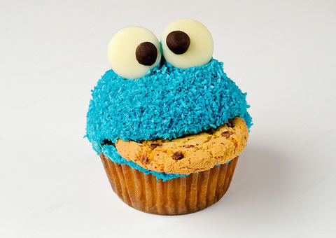 Monster Cookie Cupcake