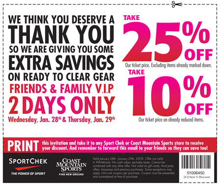 Sport chek discount coupon