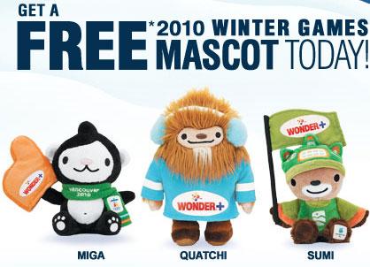 Winter 2010 Vancouver Mascot