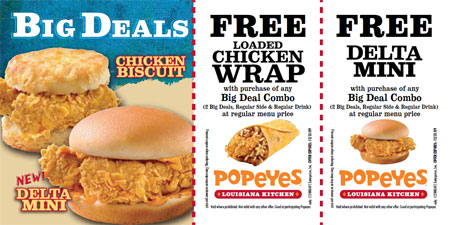 Popeye's Chicken Canada Coupons