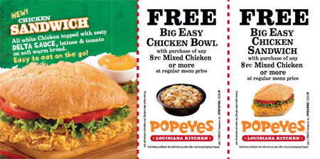 image regarding Popeyes Coupon Printable identified as Popeyes Chook Canada Discount coupons Canadian Freebies, Coupon codes