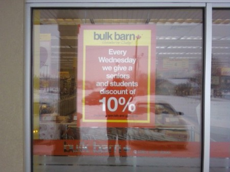 bulk barn 10 off wednesdays for students seniors canadian