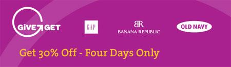Banana Republic, GAP, Old Navy Canada Invitation Coupon