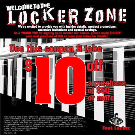 Coupons for lady foot locker printable