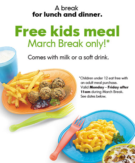 ikea canada restaurant free kids meal on march break