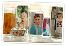Turn the jar upside down and display your simple thrifty genius in a place of honor!