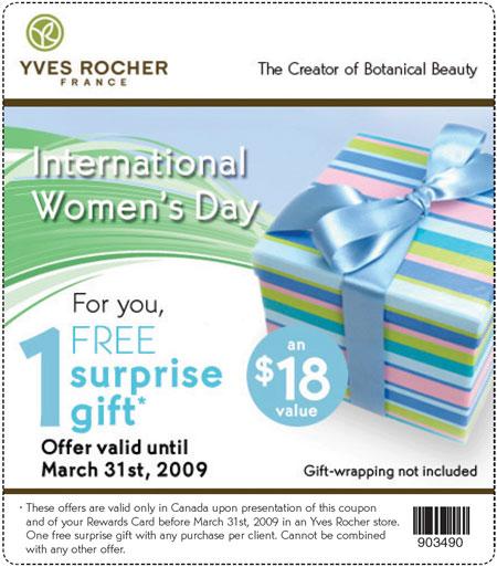 coupon code yves rocher canada