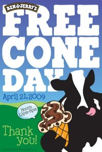 Ben and Jerrys Canada Free Cone Day 2009