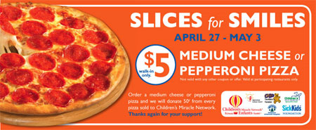 Pizza Pizza Canada $5 Medium Pizza