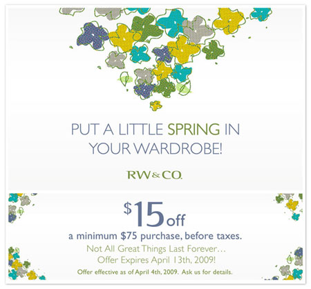 RW&Co Canada Coupons and Deals