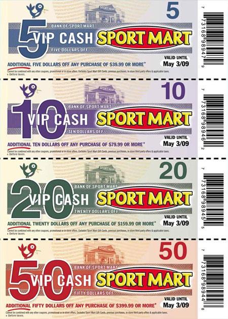 Sports Mart Canada VIP Cash Coupons