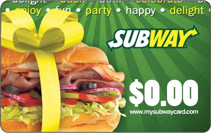 Subway Canada Gift Card