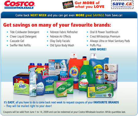 Costco Canada Save.ca Coupons