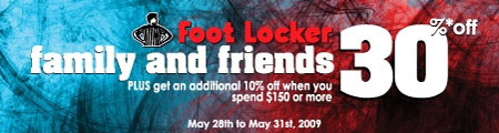 Foot Locker Canada Friends and Family Sale