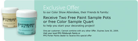 Free Paint Samples Canada