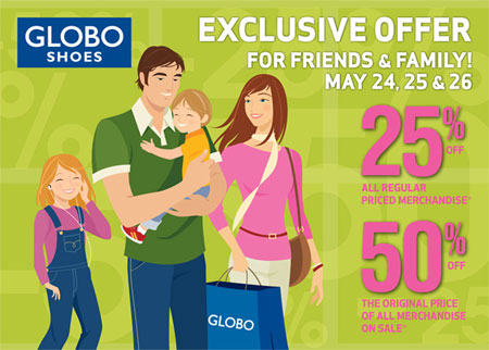 GLOBO Shoes Canada Friends and Family Sale