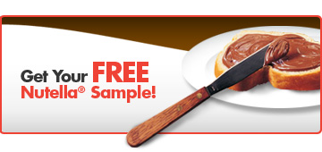 Canadian freebies nutella canada free sample hot hurry canadian