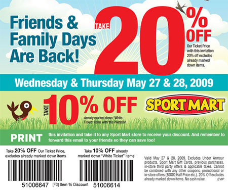 Sport Mart Canada Friends and Family