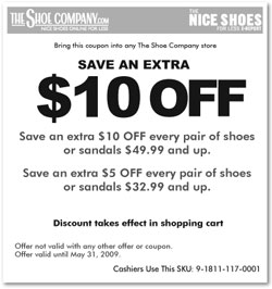 The Shoe Company Canada COupons