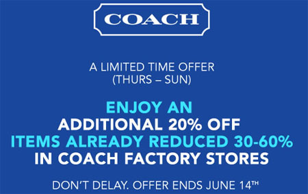 Online Exclusive! Shop The DISNEY X COACH Collection For A Limited Time + Free Shipping. Fill your shopping cart with discounts. Shop this offer and enter Coach promo code at checkout today. Online exclusive! shop the DISNEY x Coach collection for a limited time + free shipping.5/5(5).
