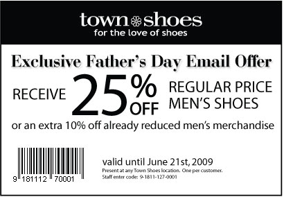 Expired Town Shoes Coupons