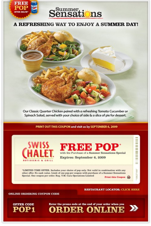 Coupon swiss chalet online