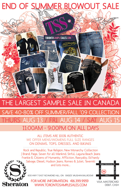 TO sample sale