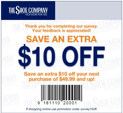 The Shoe Company Coupon October