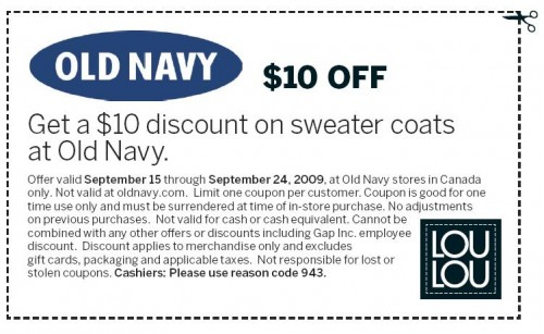 old navy coupon code canada