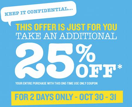 Old Navy Coupon Canada
